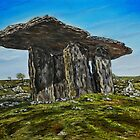 Poulnabrone Dolmen, The Burren, County Clare - oil painting by Avril Brand