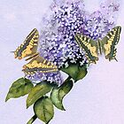 Swallowtails and Lilac by Jorja