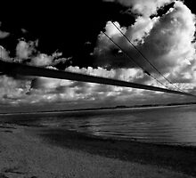Dark Blue - Humber Bridge  by Andy Smith