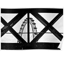 London Eye X + O Poster