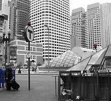 Blue Mailboxes in Boston by Graciela Maria Solano