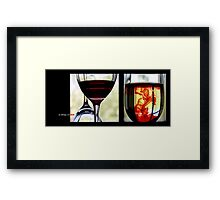 a drop of red Framed Print
