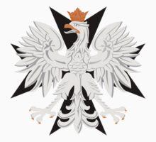Polish Eagle Black Maltese Cross t shirt by PolishArt