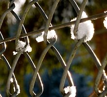 Mesh fence with snow by KSissy