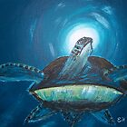 Sunlights Sea Turtle by Esther Nadeau