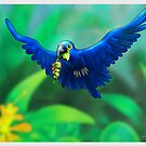 Hyacinth Macaw by murals2go