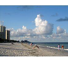 tai chi on the beach Photographic Print