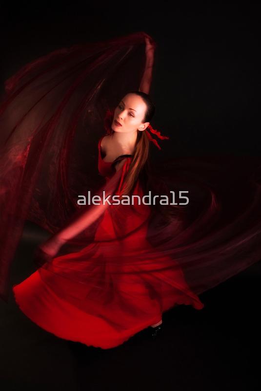 Red veil by Aleksandra Misic