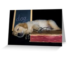 Dog Tired Greeting Card