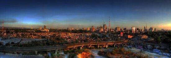 Metro Cityscape Sunset by Yhun Suarez