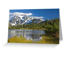 Mt. Shuksan, Picture Lake (North Cascades National Park) Greeting Card