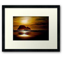 GOLDEN SUNSET....by Marie Will Photographer Framed Print