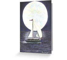 Lake Michigan full moon Greeting Card