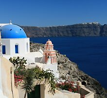 View from Oia - Santorini, Greece by sccaldwell
