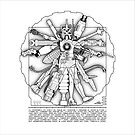 Vitruvian Machine - Print by Captain RibMan