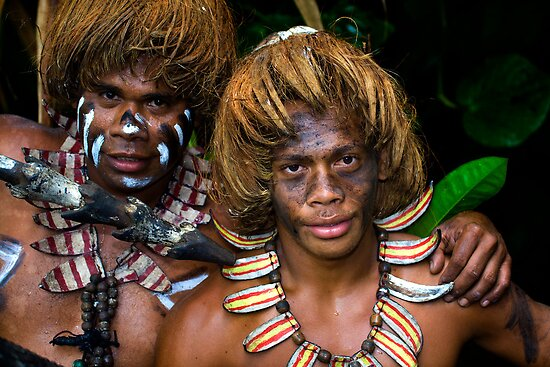 Banks Island Boys, Vanuatu by Chris Westinghouse