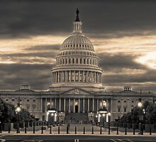The Capital at Dusk by Don  Harris