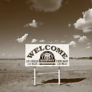 Route 66 - Midpoint Sign by Frank Romeo