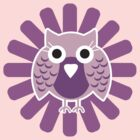 Baby Owl Pink by teegs