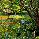 Heian Shrine pond garden, Kyoto, Japan by johnrf