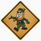 St. Patrick's Day Leprechaun Warning Sign by tartanphoenix