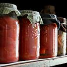 Ball Jars in a Row by Michael  Herrfurth