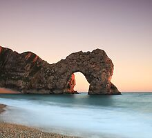 Durdle Door at Sunset by Mark Pelleymounter