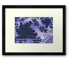 Joy Comes in the Morning Card Framed Print