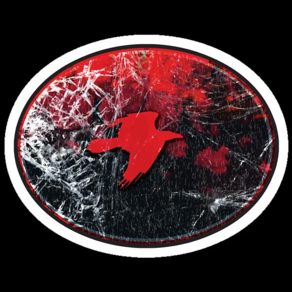 shattered flight - sticker by vampvamp