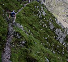 bow fell buttress - the climbers traverse by Ilapin