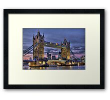 Tower Bridge And The City -  Twilight - HDR Framed Print