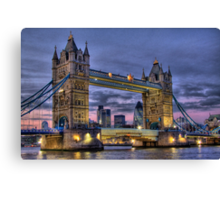 Tower Bridge And The City -  Twilight - HDR Canvas Print