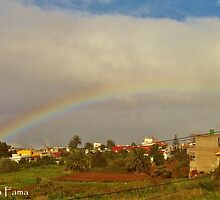 Rainbow over Tacoronte by FatimaFama