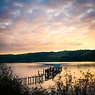 Sunset over Lake by PhotographerAri