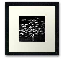 Paris - Maya and the silver fishes. Framed Print