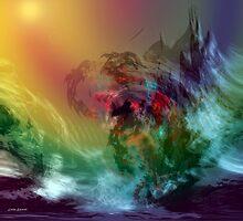 Mountains crumble to the Sea.. by Linda Sannuti