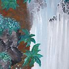 Waterfall 1 - card by Margo Humphries