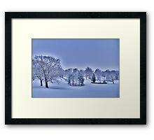 Frozen At Day Break ~ Peel Park ~ Framed Print