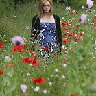 Tatiana in poppy field by David Tovey