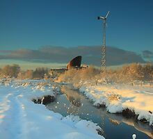 Snow at the Ecos park. by Fred Taylor
