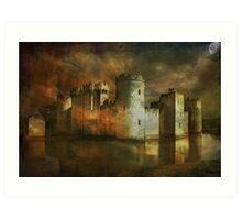 Bodiam Castle.... Art Print