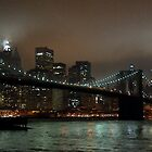 Brooklyn Bridge at night by Joe Bashour