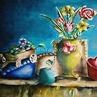 still life roses and flowers by thuraya o