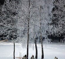 Soldiers in winter by Antanas