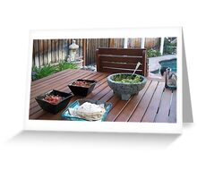 Inviting table Greeting Card