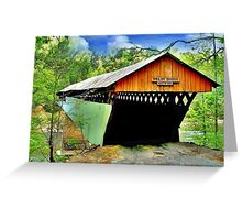 Swann Covered Bridge Greeting Card