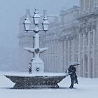 Fountain in Snow by Karen Martin