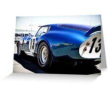 Shelby Cobra Racing Car Greeting Card