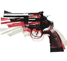 Revolver on White by Michael Tompsett