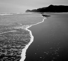 Piha In Black and White by Emma Turnbull